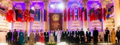 Preisträger Aleksandar Timotic in Kolonnij Saal Moskow - Finale des Wettbewerbs Romansiada 2017